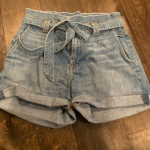 7 for All Mankind paperbag denim shorts